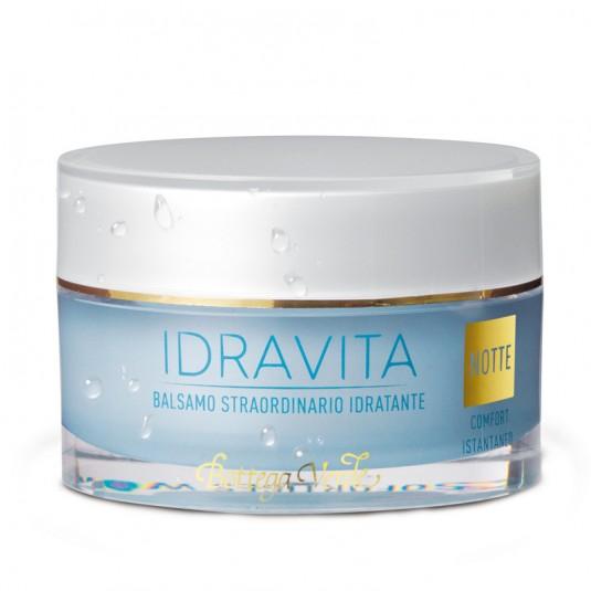 Нічний зволожувальний бальзам для обличчя «Idravita»