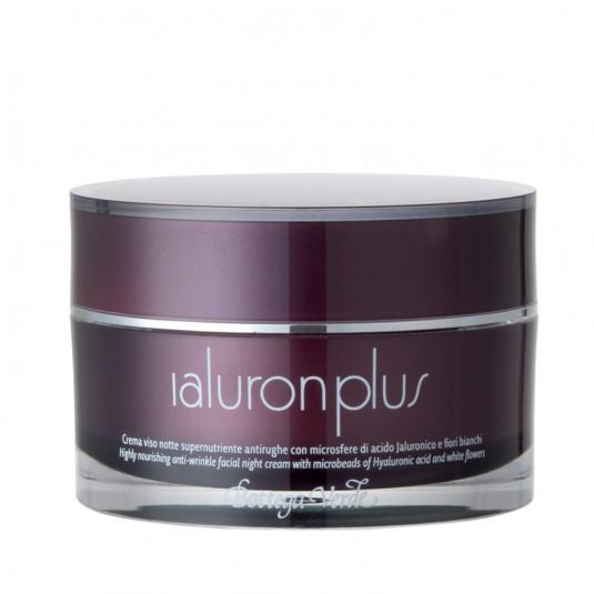 Суперпоживний нічний крем для обличчя «Ialuron Plus»  проти зморщок